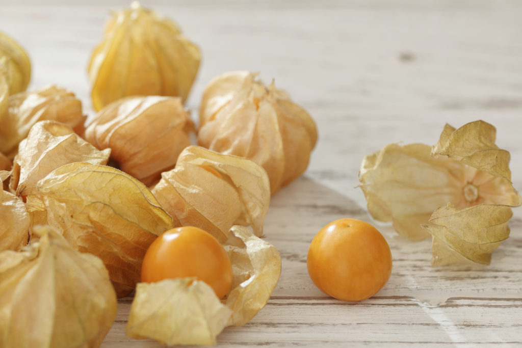 cape gooseberry physalis fruit ground cherry organic food vegetabl golden berry tasty wood background