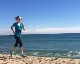 Юлия Корнева на пробежке