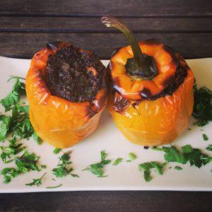 Болгарский перец с овощами и киноа