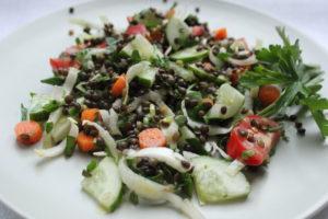Фото салат из чечевицы