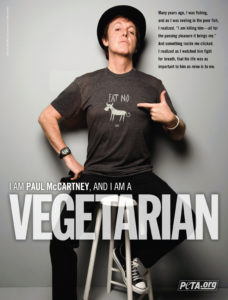 Пол Маккартни вегетарианец