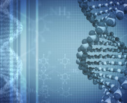 DNA blue background with formulas