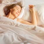 Woman enjoying good sleep