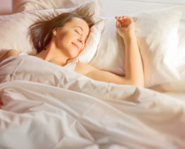 Woman enjoying good sleep